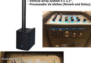 Sistema de som c/mesa mistura MP3, Bluetoot, FX