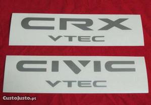 Autocolante farolim traseiro Honda Civic Crx Vtec