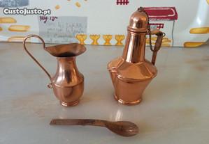 Miniaturas em cobre