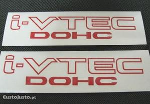 Autocolantes i-VTEC dohc / i-VTEC sohc para Honda