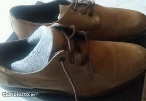 Sapatos em pele couro castanho homem 41 novos