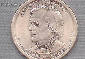 Moeda USA - Dollar 17 Presidente Andrew Johnson