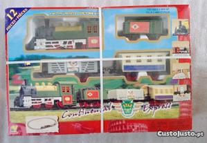 Comboio de brinquedo antigo-
