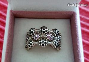 Três anéis prata da Pandora Originais