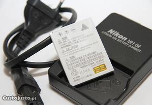 Carregador Nikon MH-62 e bateria