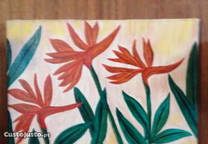 2958 - Quadro em pintura em acrilico, estrelicia.