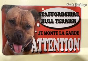 Placa aviso de cão