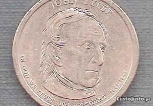 Moeda USA - Dollar 10 Presidente John Tyler