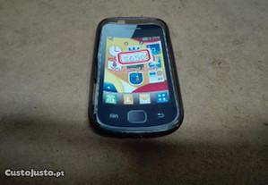 Capa em Silicone Samsung Galaxy mini 2 Preta -Nova