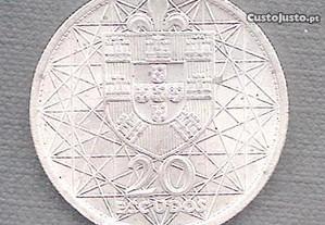 Moeda 20 Escudos 1966 Prata
