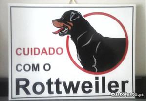 NOVO Azulejo Cuidado com o Cão Rottweiler 20X15 CM