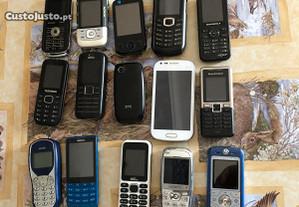 Vários telemóveis a funcionar e para peças