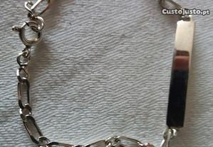 Pulseira em prata genuina nova