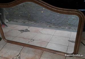 Espelho em madeira de parede 1.3m largura