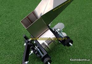 Retalhador de Azeitonas Manual - Laminas Ajustáveis - INOX - Encaixe em mesa
