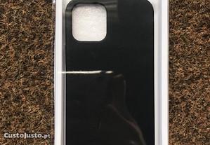 Capa de silicone preta soft touch iPhone 12 Pro