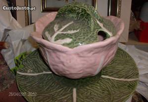 terrina de couve c/prato estilo bordalo pinheiro