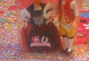 Casal típico de Appenzell Suiça
