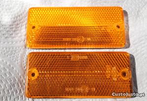 Par de refletores laranja - como novos