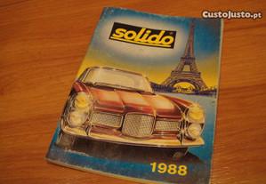 Raro catalogo brinquedos antigos SOLIDO 1988