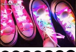 1 par cordões mágicos com luz LED 8 cores