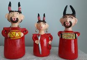 3 Diabo de artesanato de Barcelos