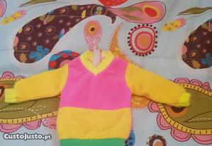 Camisola amarela e rosa Barbie ou similar anos 70