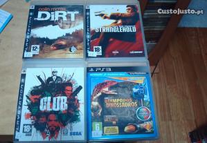 lote 4 jogos originais ps3 the club etc