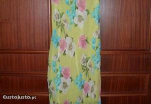 Vestido verde florido S