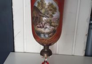 Retro Vintage Antigo Grande Cálice Taça Vidro