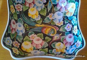 Taça em louça decorativa, (pintada a mão ) nova