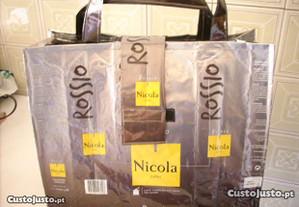 Saco Nicola Rossio cor cinza 38x30 cm