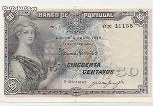 Espadim - Nota de 50 Centavos de 1918 - 1 Linha CX
