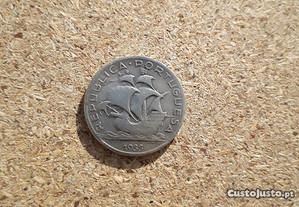 Moeda 5$00 Escudos 1933 Prata