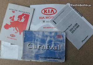 Manual instruções Kia Carnival