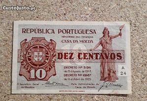 Nota-cédula de 10 centavos 1917