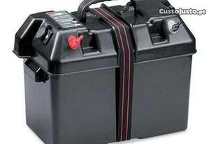Caixa de transporte de bateria, com 2 tomadas, 12v