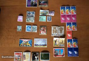 Conjunto de selos de diversos países