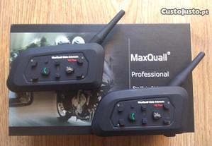 2-Auricular/intercomunicador Bluetooth p/ capacete