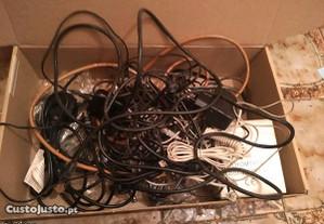 grande conjunto de cabos diversos