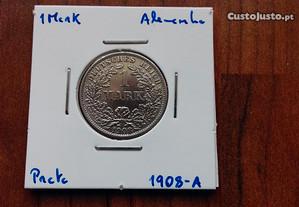 Moeda 1 Mark 1908-A Alemanha