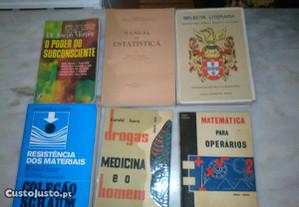Conjunto de 6 Livros Antigos Diversos