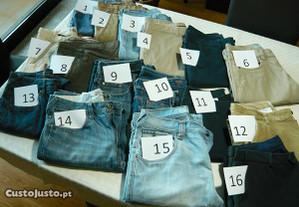 Lote 11 calças - Várias marcas - Usadas GANT