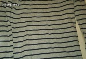 camisolas malha riscas