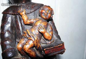 Escultura do sec. 19 - Santo António em madeira