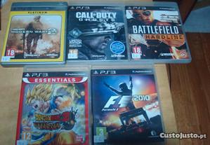 Lote 3 jogos originaisps3 call of duty,battlefield