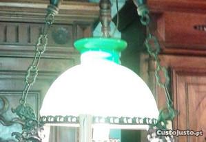 Candeeiro Abajur Vidro Verde