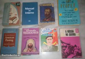 Conjunto de 8 Livros Diversos Antigos