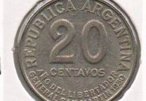 Argentina - 20 Centavos 1950 - soberba