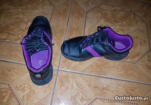 sapatilhas pretas e roxas nike - tamanho 38
